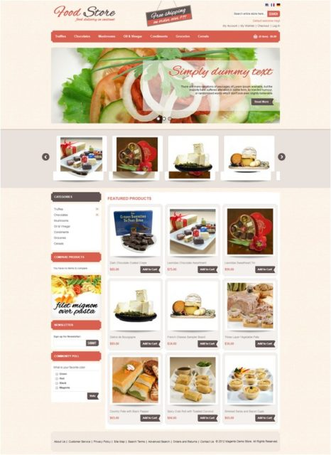 Food Magento Template