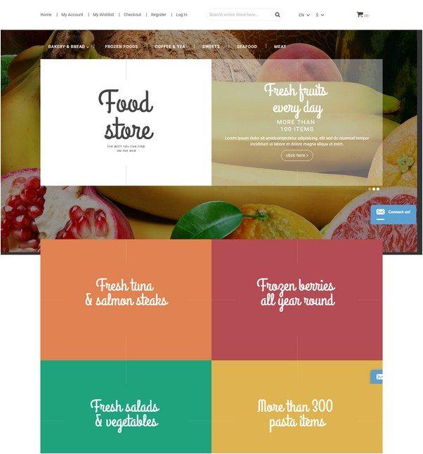 Food Online Responsive Magento Theme