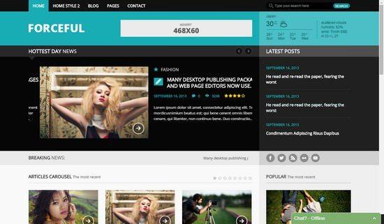 ForceFul magazine WordPress theme