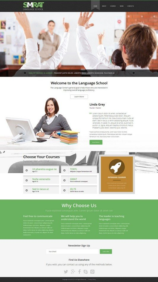 Foreign Language Teaching Joomla Template