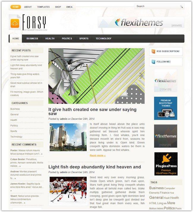 Forsy WordPress Theme