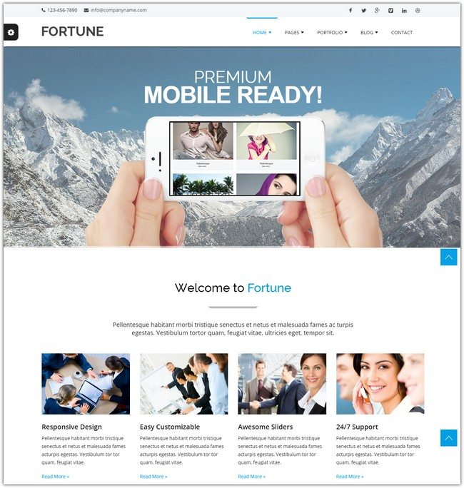 Fortune Multipurpose Website Template