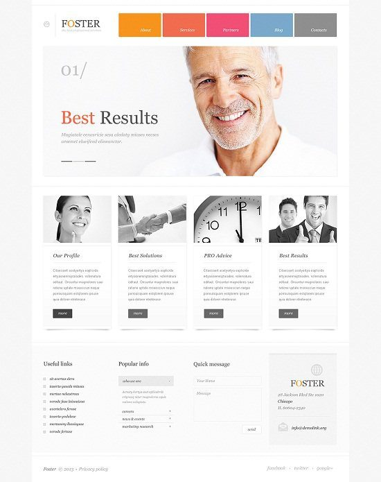 Foster Investment Business WordPress Theme