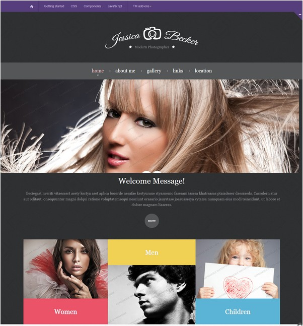 Bootstrap 3.0 HTML Template