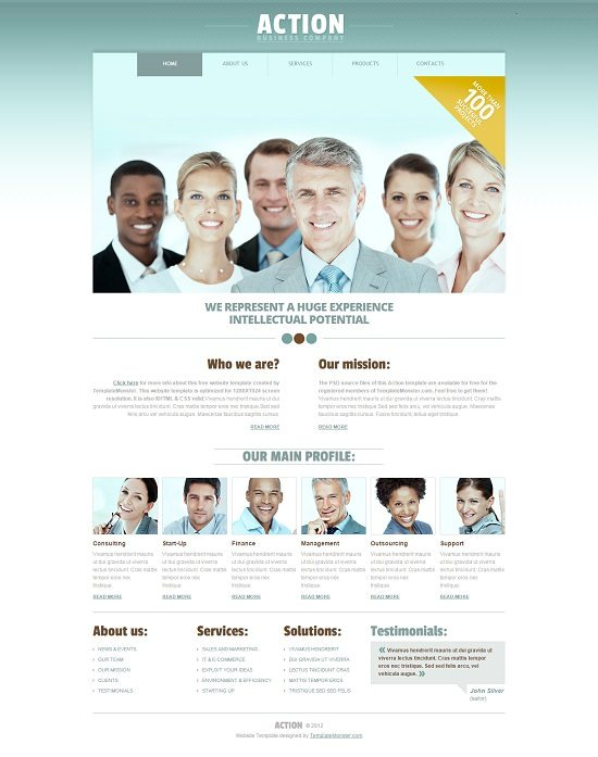 Free Business HTML5 Website Template