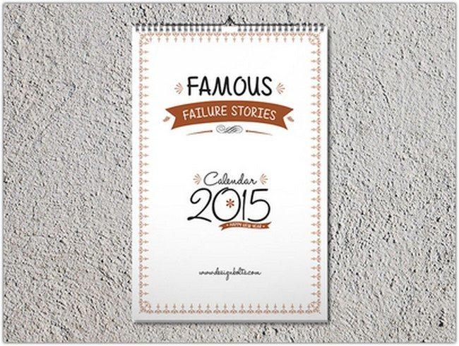 Free Calendar 2015 Design & Mockup PSD