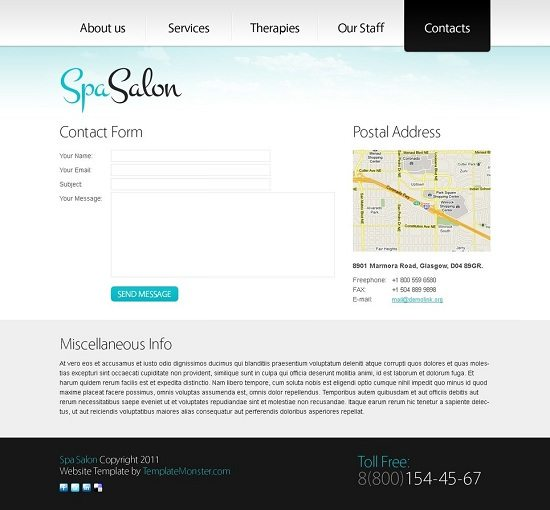 Free-Clean-Style-Website-Template-Spa-Salon