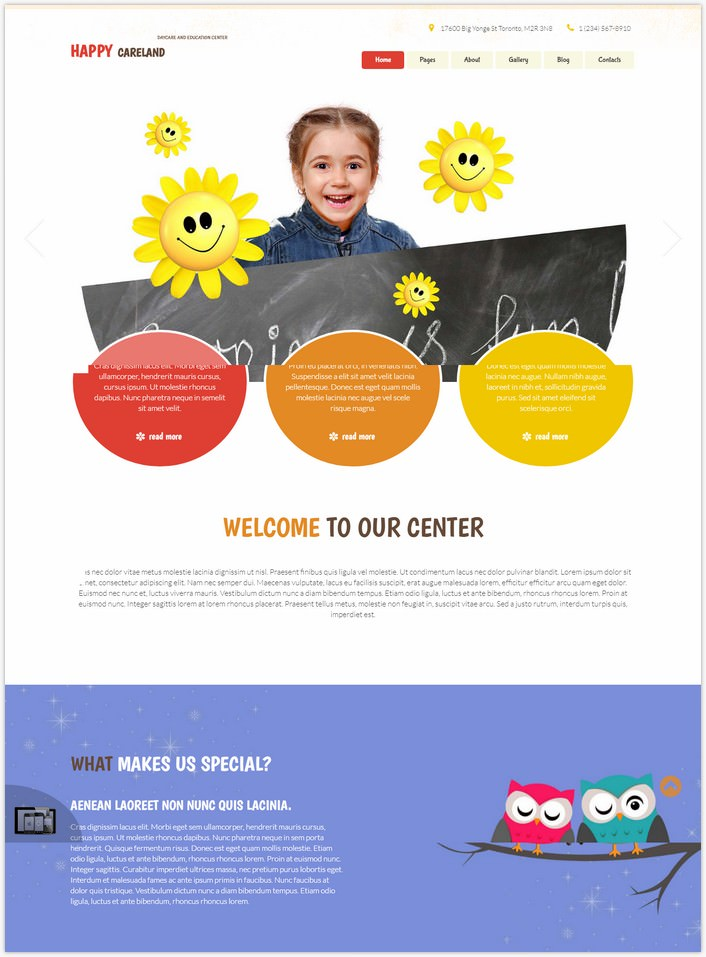 Free Daycare Joomla Template