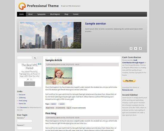 Free Drupal Professional Theme