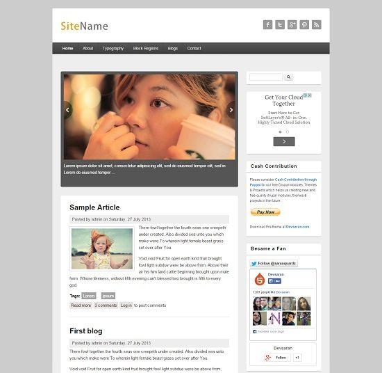Free Drupal Responsive Blog