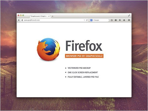 Free Firefox Browser Mockup