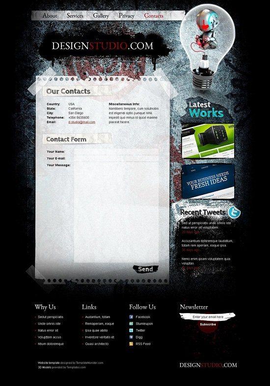 Free HTML Theme for Design Studio