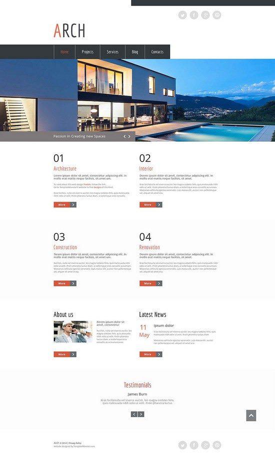 Free HTML5 Theme - Architecture