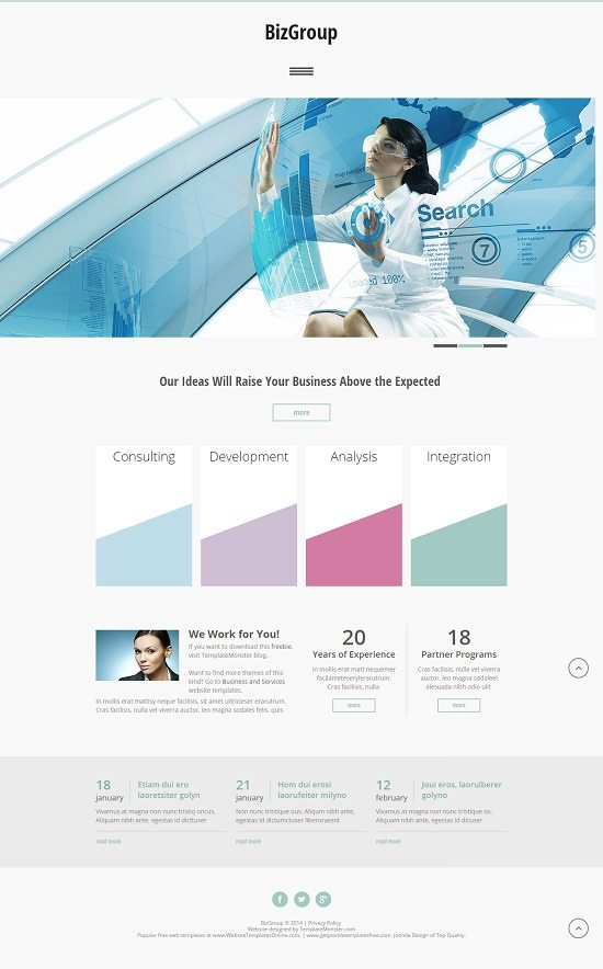 Free HTML5 Theme for Business Site