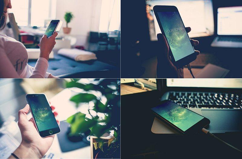 Free Iphone 6 Photorealistic Mockups