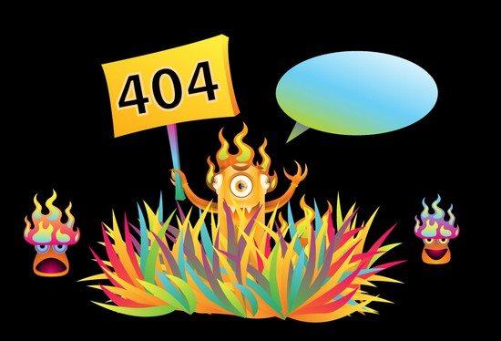 Free Monster 404 error page illustration