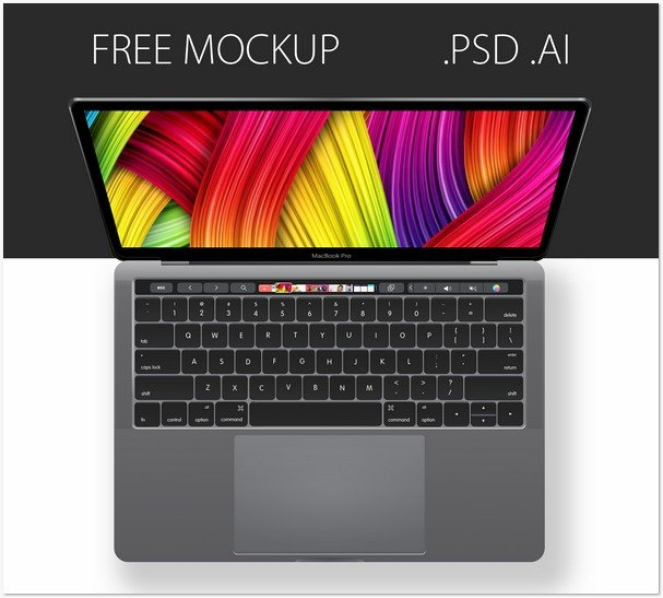 Free PSD & AI mockup MacBook Pro