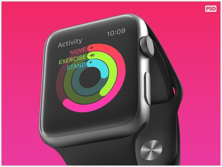 Free PSD from 360 Apple Watch mockups