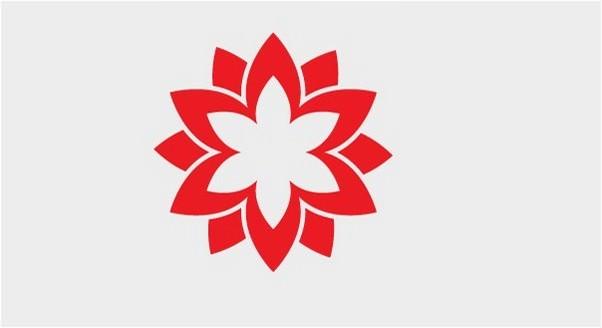 Free Red Vector Flower Logo