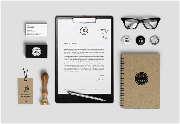 Free Stationary Mock up Download