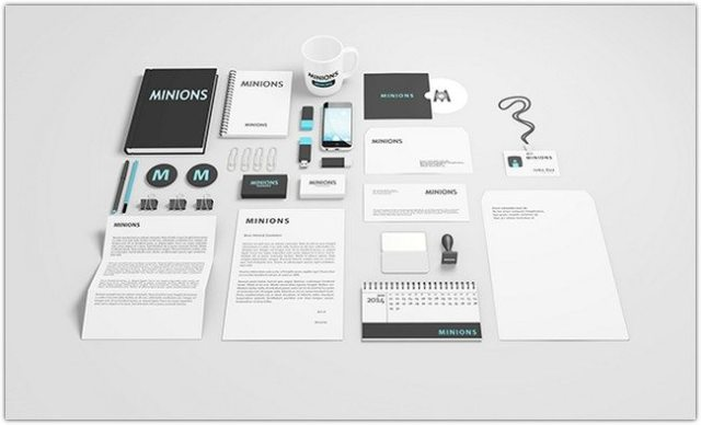 Free Stationary Mockup (Smart Object & Layered)