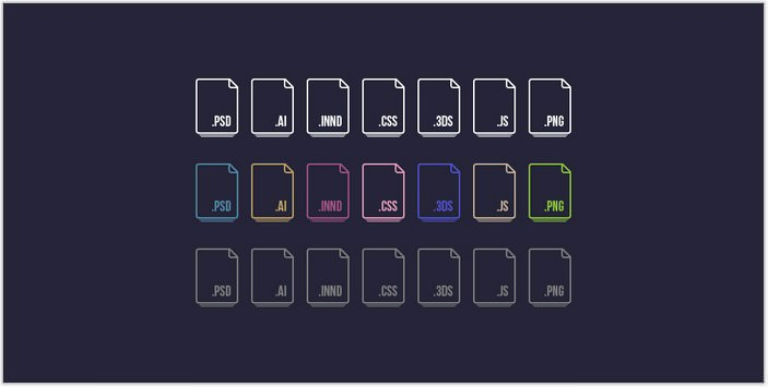 Free Vector File Extension Icons