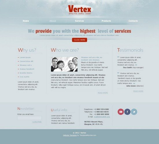 Free Web Template for Business Project