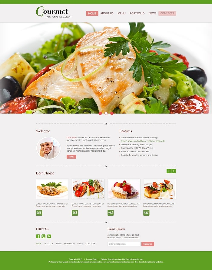 Free Website Template – Restaurant