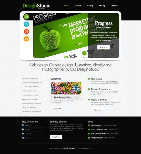 Free Website Template - jQuery Slider