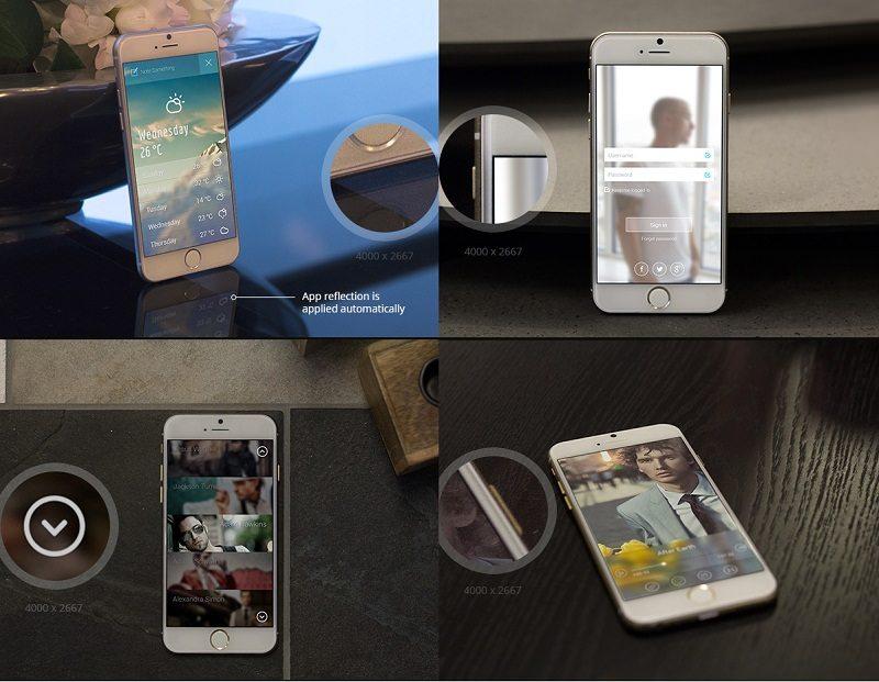 Free iPhone 6 Mockup Set – 6 PSD's