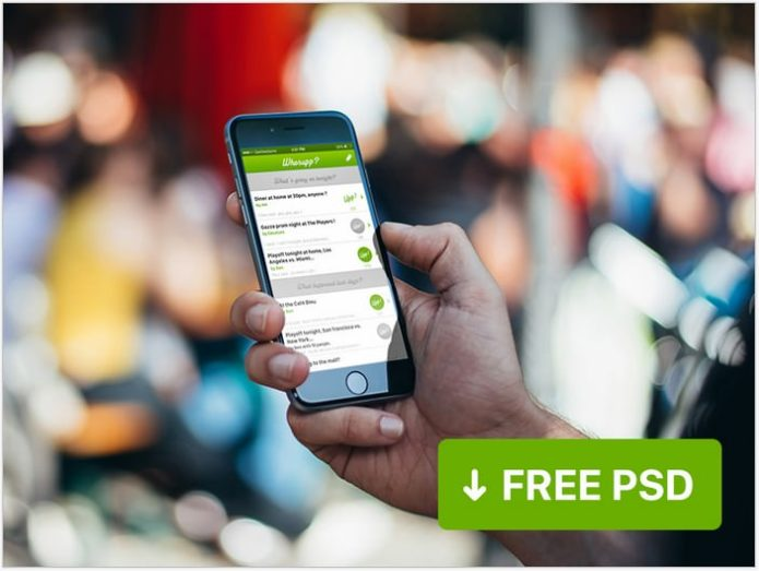 Free psd – micro chat app UI