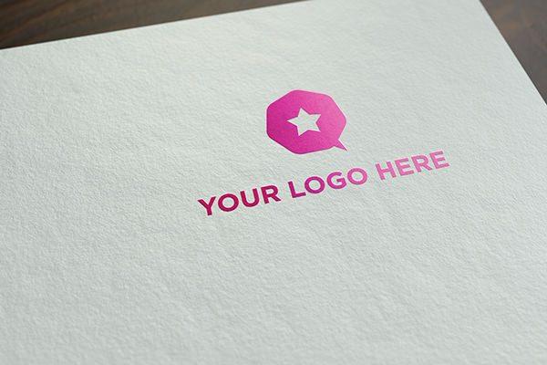 Free realistic logo mock-up