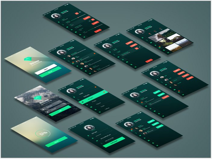 Freebie – Mobile App UI Kit
