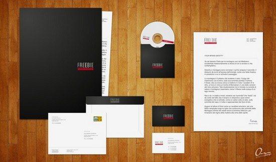 Freebie Vector Mockup Branding