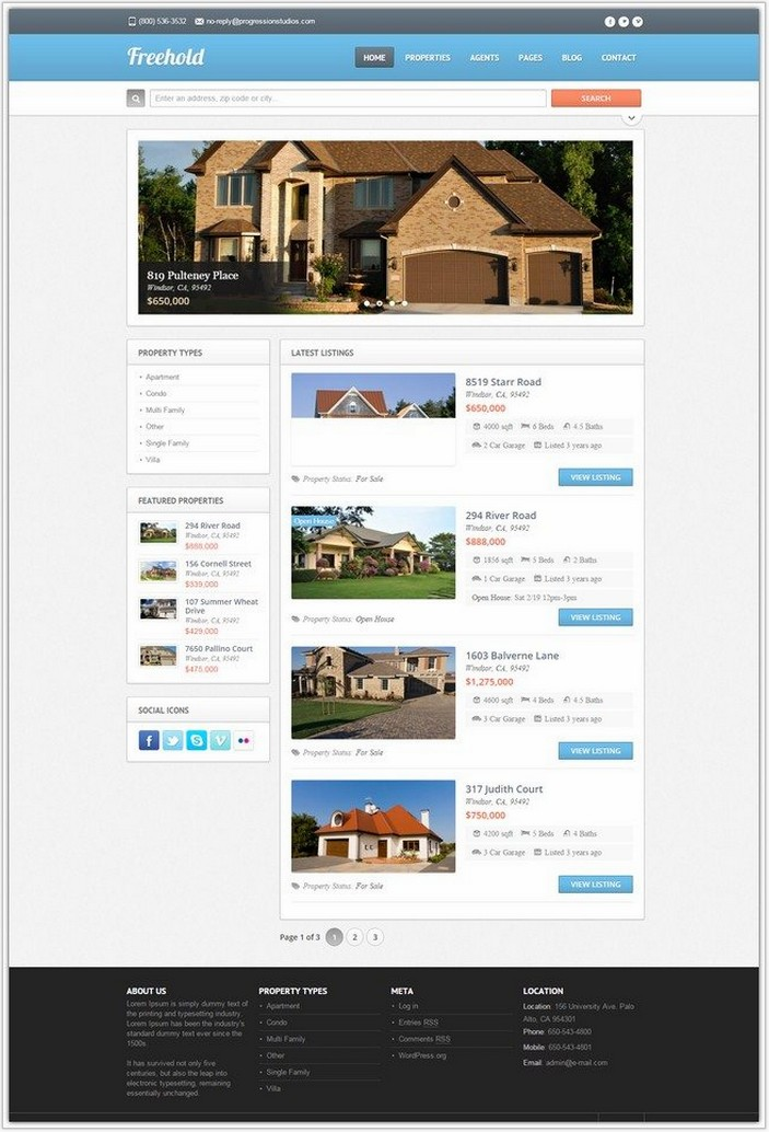 Freehold – Responsive Real Estate Theme