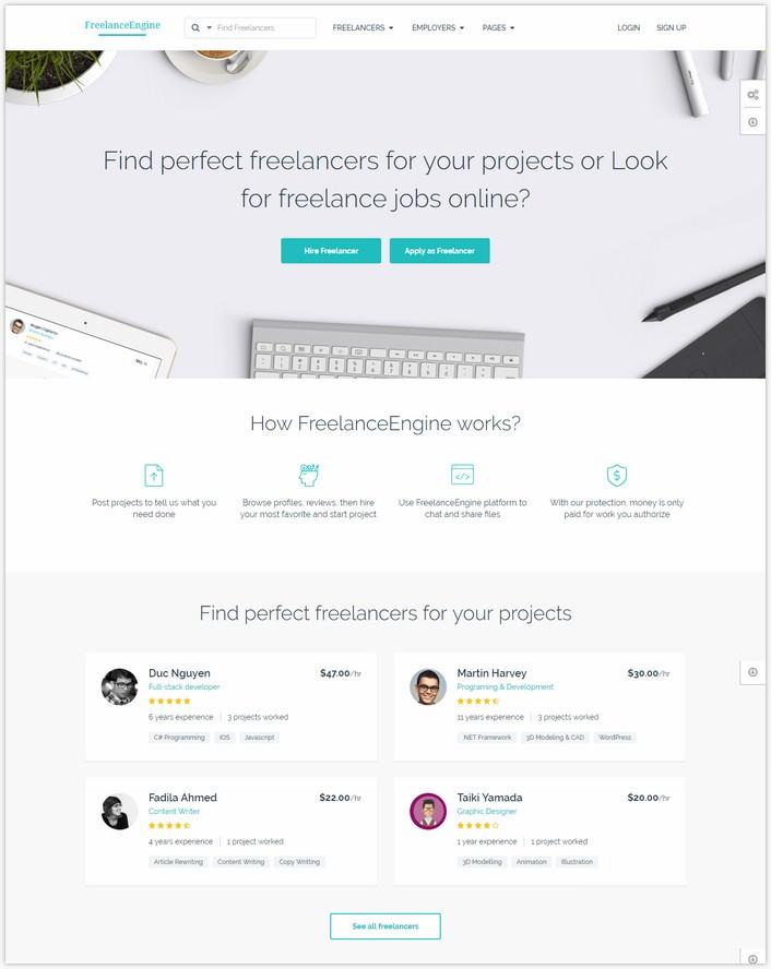 Freelance Marketplace Theme