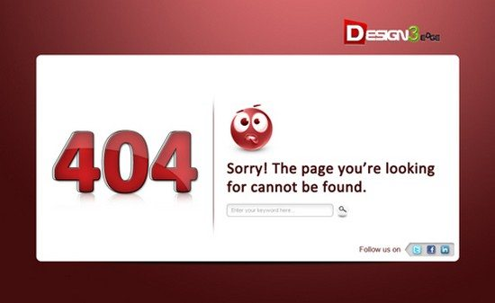 Fresh 404 Error Template