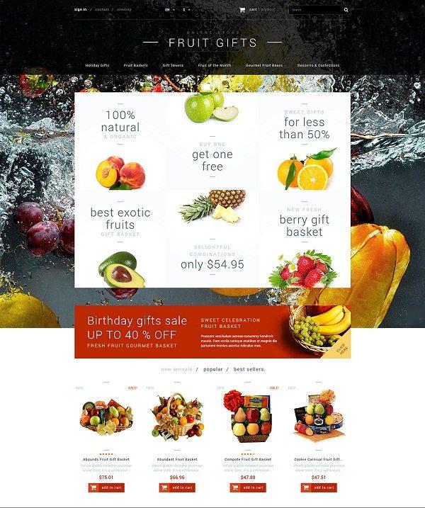Fruit Gifts Store PrestaShop Theme