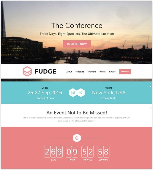 Fudge WordPress Theme