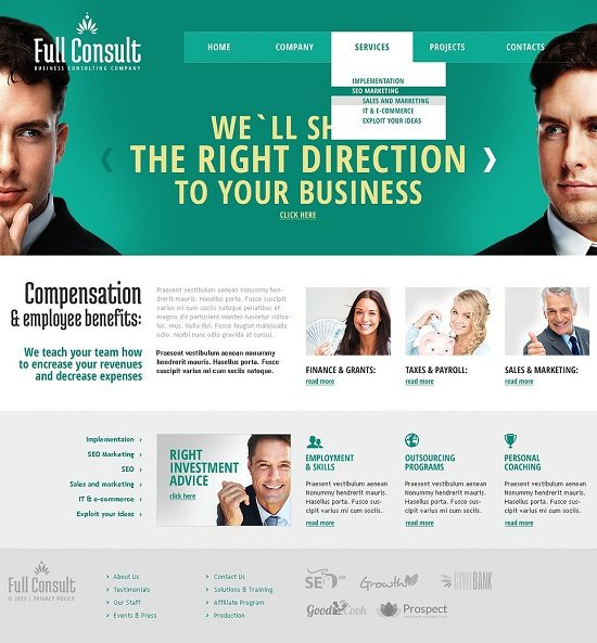 Full Consult Consulting Responsive Website Template