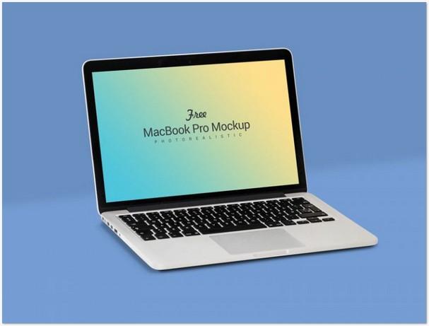Fully Customizable Apple Macbook Pro Mockup PSD