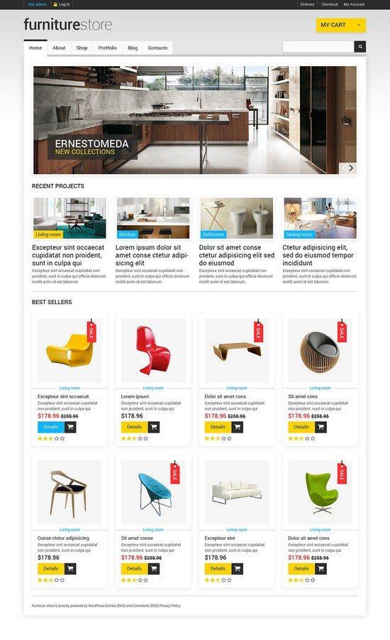 Furniture that Creates Comfort WooCommerce Theme