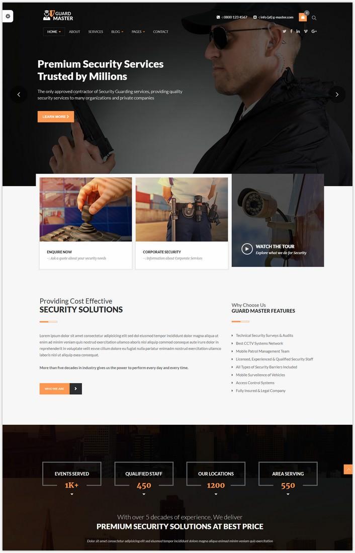 GUARD MASTER - HTML Responsive Multi-Purpose Template