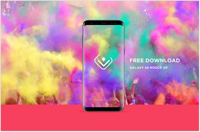 Galaxy S8 mockup Free