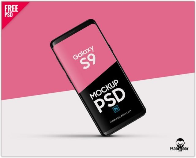 Galaxy S9 Mockup PSD
