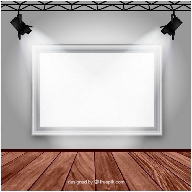 gallery-room-interior-free-vector
