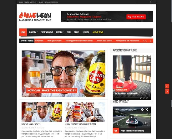 Gameleon - WordPress Magazine & Arcade Theme