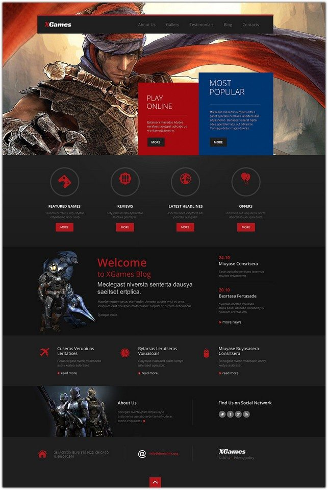 Games Responsive WP Theme