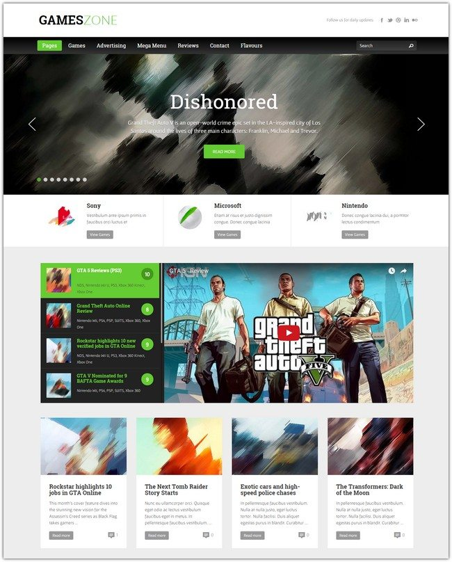Games Zone – Gaming WordPress Theme