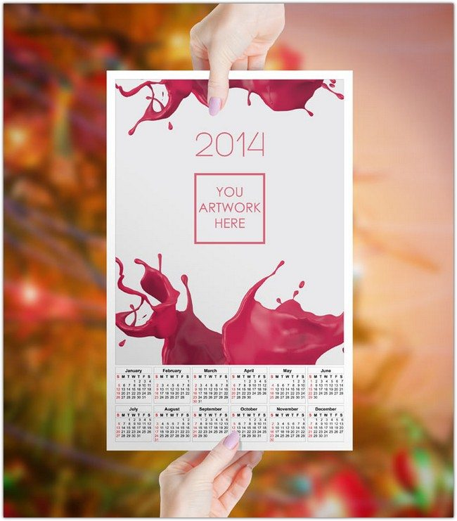 GemGfx 2014 Mockup and Print Ready Calendar